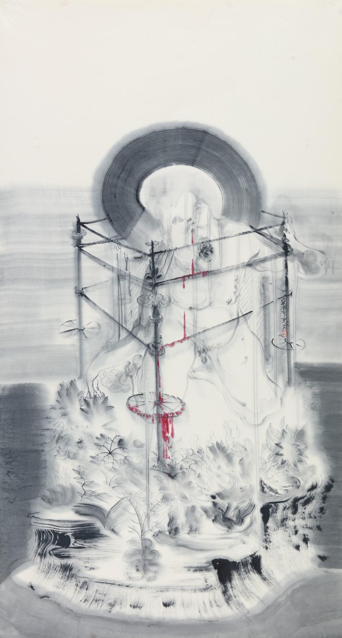 Li Huichang, Grudge series-2, ink on rice paper, 36_ x70_